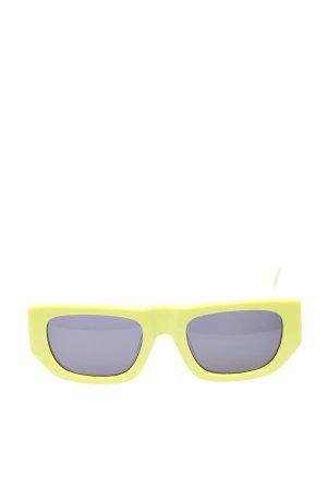 Le Specs Gafas de sol cuadradas amarillo pálido-blanco puro look casual