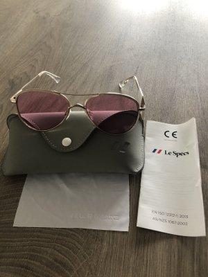 Le Specs Occhiale da pilota oro-rosa