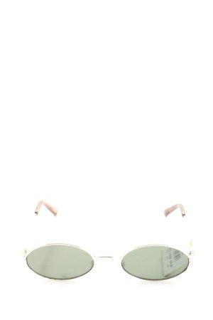 Le Specs Owalne okulary przeciwsłoneczne srebrny-brązowy W stylu casual
