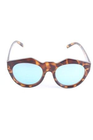 Le Specs Gafas de sol ovaladas negro-amarillo pálido degradado de color
