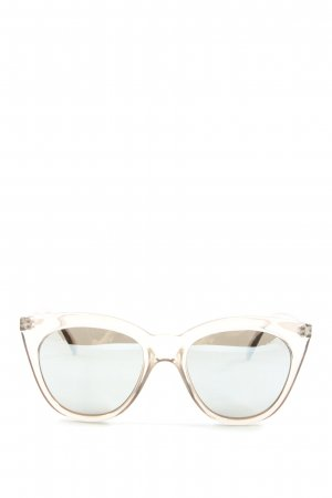 Le Specs Square Glasses white casual look