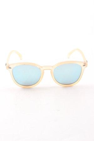 Le Specs Panto Brille hellorange-blau extravaganter Stil