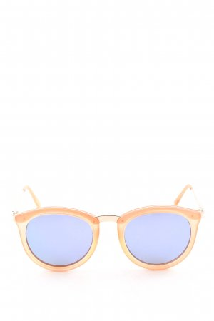 Le Specs Panto Glasses nude-blue casual look