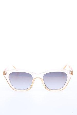 Le Specs Okulary retro kremowy-fiolet W stylu casual