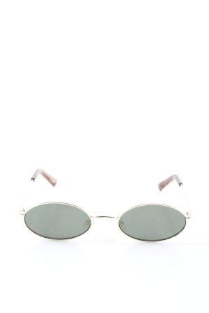 Le Specs Retro Brille hellgrau-braun Casual-Look