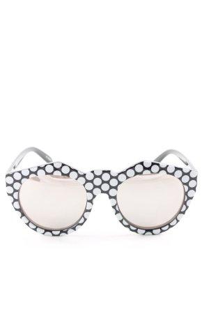 Le Specs Retro Brille schwarz-weiß Allover-Druck Casual-Look