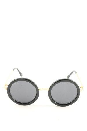 Le Specs Gafas de sol redondas negro-color oro look casual