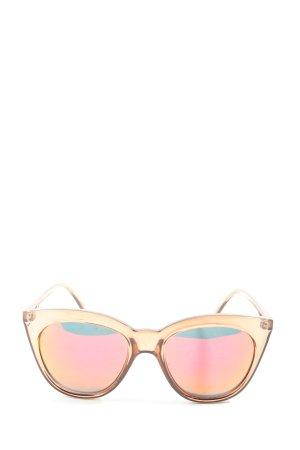 Le Specs Gafas cuadradas naranja claro look casual