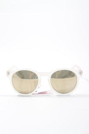 Le Specs Lunettes de soleil rondes blanc style décontracté