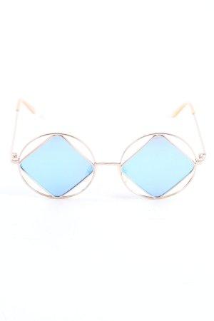 Le Specs Gafas de sol redondas color oro degradado de color look casual