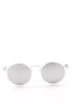Le Specs runde Sonnenbrille silberfarben Retro-Look