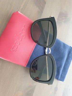 Le Specs Gafas Retro negro-color oro