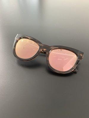 Le Specs Gafas de sol cuadradas marrón