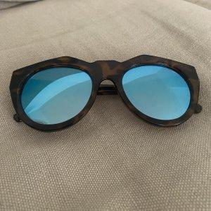 Le Specs Gafas marrón-azul neón
