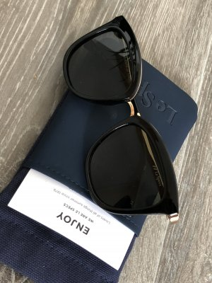 Le Specs Gafas mariposa negro-color oro