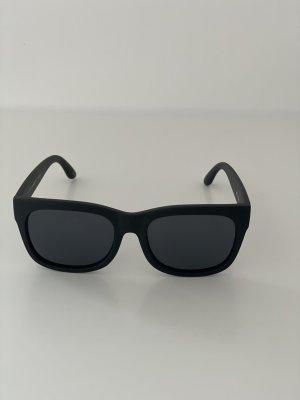 Le Specs Owalne okulary przeciwsłoneczne czarny