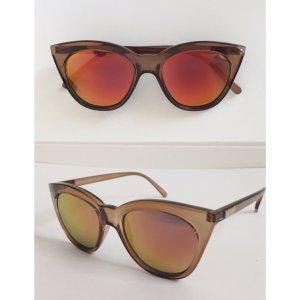 Le Specs Sonnenbrille Halfmoon Magic verspiegelt Holographisch Cateye