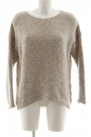 le streghe Strickpullover creme Casual-Look