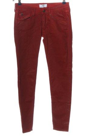 Le Temps des Cerises Pantalone cinque tasche rosso stile casual