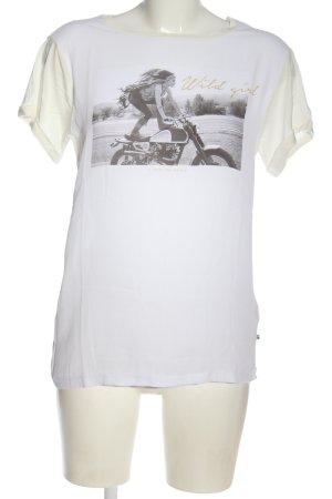 Le Temps des Cerises Camicia fantasia bianco-nero Stampa a tema stile casual