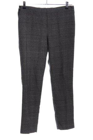 Le Temps des Cerises Pantalone jersey nero-grigio chiaro motivo a quadri
