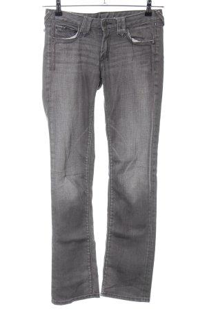 Le Temps des Cerises Straight-Leg Jeans hellgrau Casual-Look
