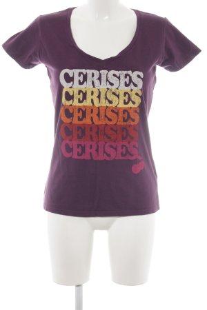 Le Temps des Cerises T-Shirt Schriftzug gedruckt Casual-Look