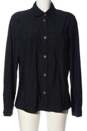 Le Tricot Longhin Langarmhemd schwarz Business-Look