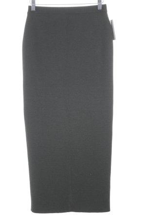Le Tricot Longhin Jupe longue gris vert style décontracté