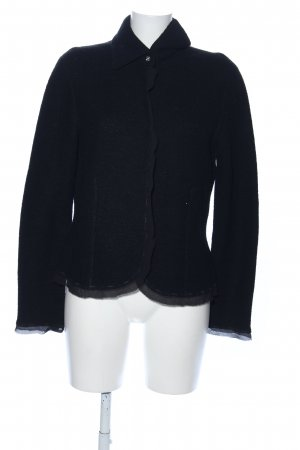 Le Tricot Longhin Chaqueta de lana negro estilo «business»