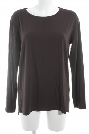 Le Tricot Perugia Longsleeve dunkelbraun Casual-Look
