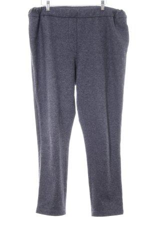 Le Tricot Perugia Pantalone di lana grigio chiaro stampa integrale stile casual