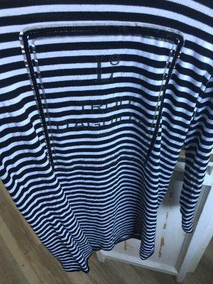 Le Trou d'aiguille Langarmshirt Kleid schwarz weiß mit Pailletten Gr L