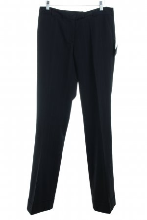 Le trou d'aiguille Stoffhose schwarz-silberfarben Eleganz-Look