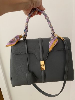 Celine Carry Bag grey leather