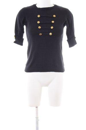 Lea Fashion Strickshirt schwarz Casual-Look