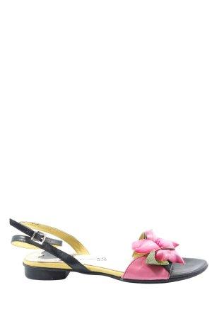 Lea foscati Sandales à lanière rose-noir style décontracté