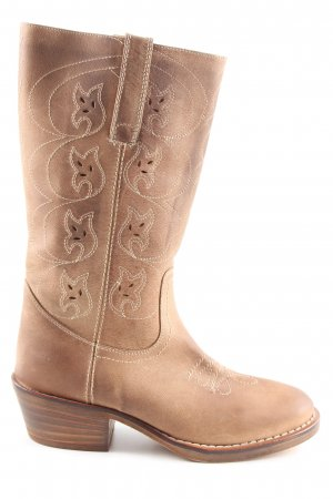 Lea foscati Western Boots brown casual look