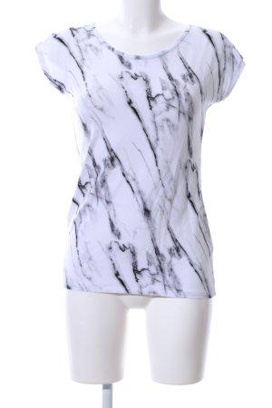 LEAH T-Shirt abstraktes Muster Casual-Look