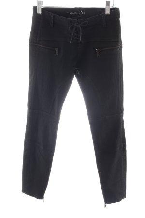 Leara Woman Skinny Jeans schwarz Biker-Look