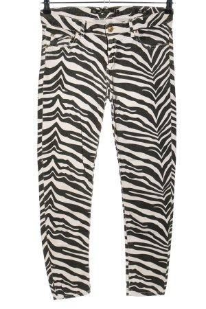 Leara Woman Slim Jeans schwarz-weiß Animalmuster Casual-Look