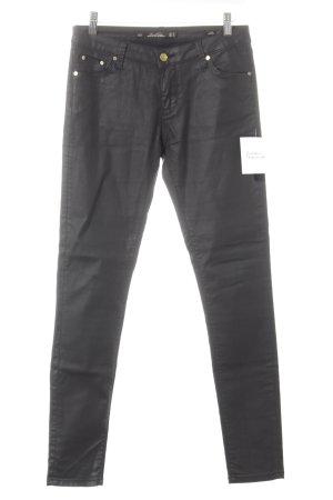 Leara Woman Slim Jeans schwarz schlichter Stil