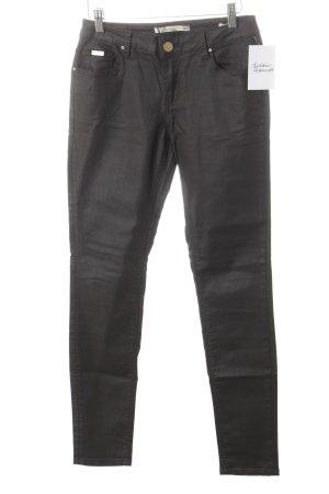 Leara Woman Slim Jeans schwarzbraun Street-Fashion-Look