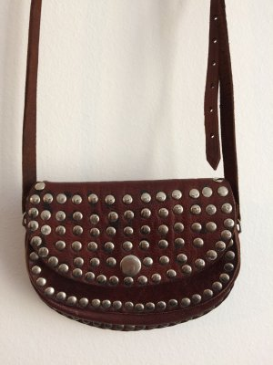 Leather bag with studs