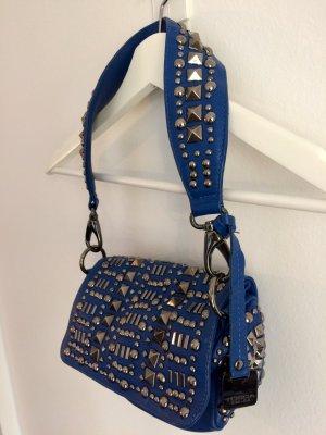 Tosca blu Pochette blue leather