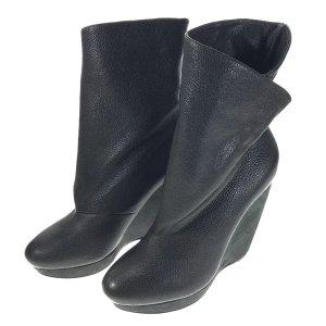 Balenciaga Platform Boots black brown leather