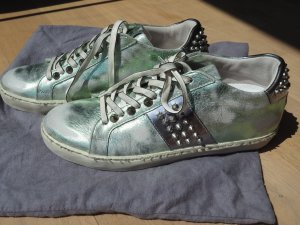 LEATHER CROWN SNEAKERS METAL GR.39