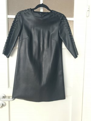 Leather dress Leder Kleid Zara