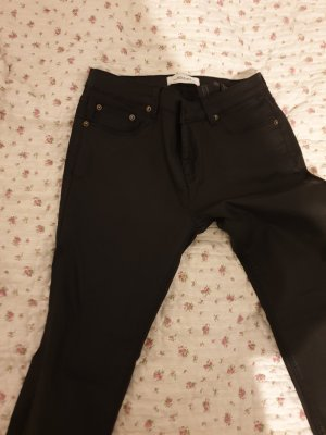 Leather look ZARA BLACK JEANS