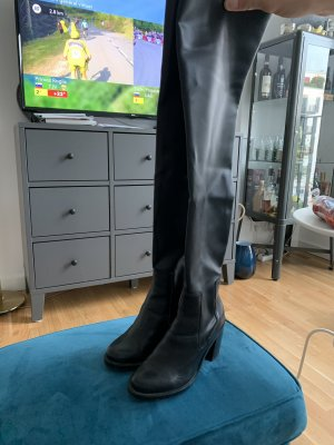 Leather over-knee boots 36